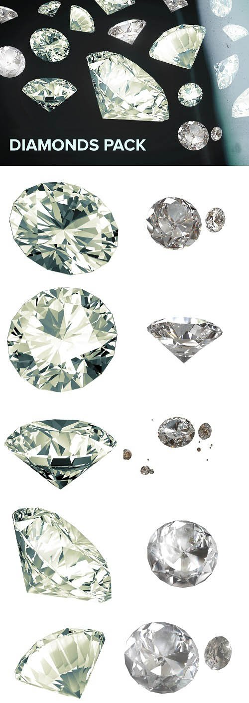 Photo Stock Diamonds Renders
