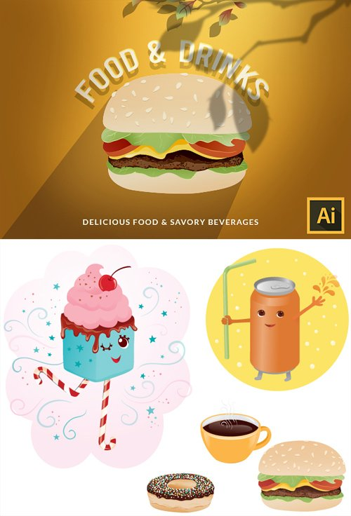 Vector Food and Drinks 5
