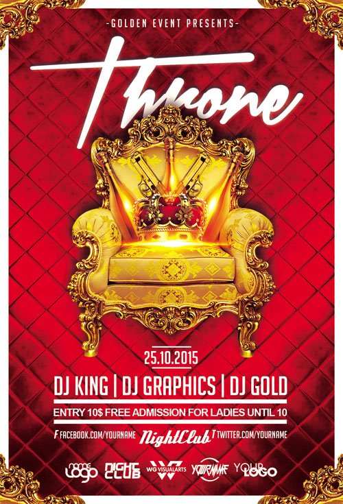 Throne Flyer Template
