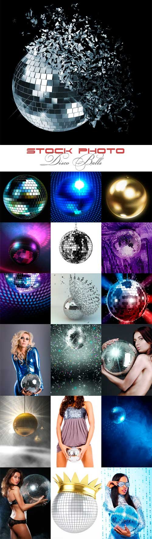 Disco Balls raster graphics