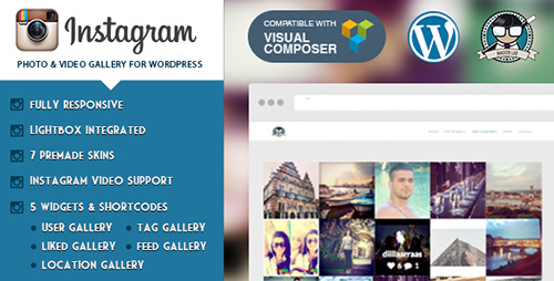 CodeCanyon - Instagram Photo & Video Gallery v2.2 for WordPress