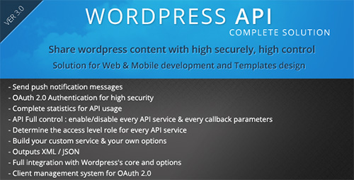 CodeCanyon - SMIO Wordpress API Complete Solution v3.8