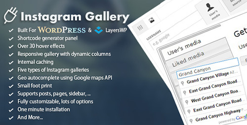 CodeCanyon - WordPress Responsive Instagram Gallery v1.0