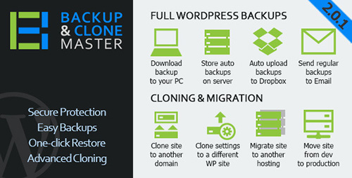 CodeCanyon - WordPress Backup & Clone Master v2.0.1