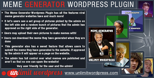 CodeCanyon - Meme Generator v2.0 Wordpress Plugin