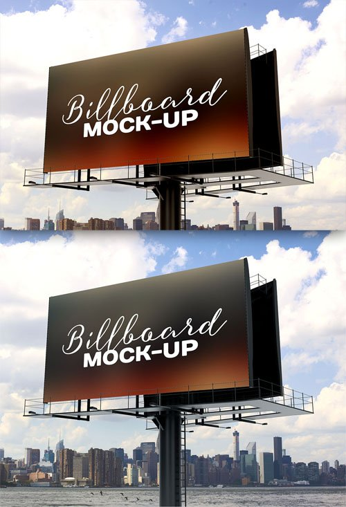 Presentation Billboard Mock-Up PSD Template