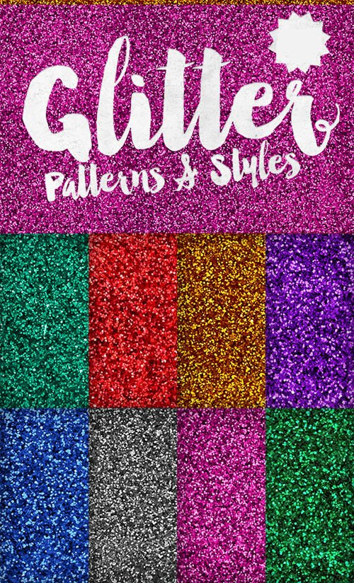 8 Glitter Effect Patterns and Styles for Photoshop