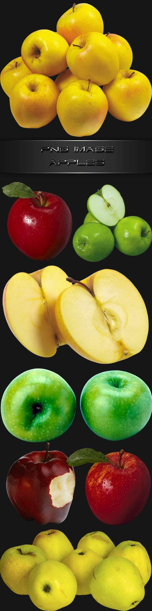 PNG clipart  Apples