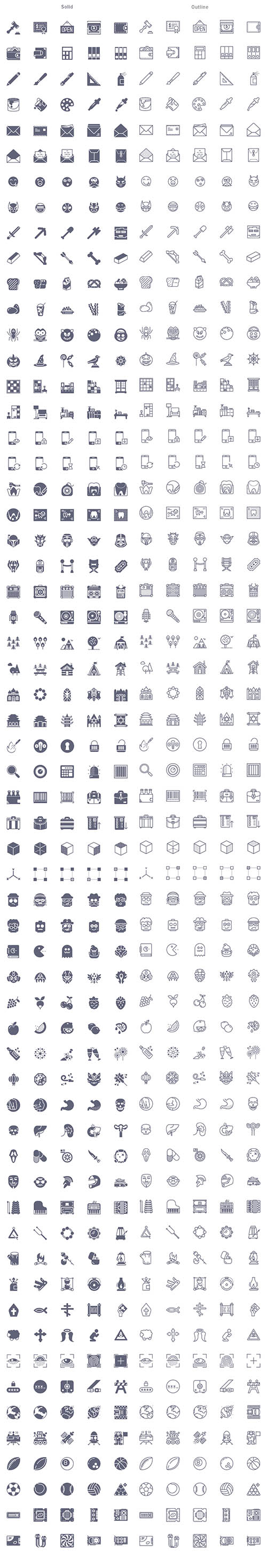 AI, PSD, SCETCH Vector Icons - 300 Smashicons