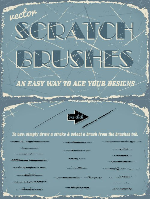 Creativemarket - Vector Scratch Brushes 100602