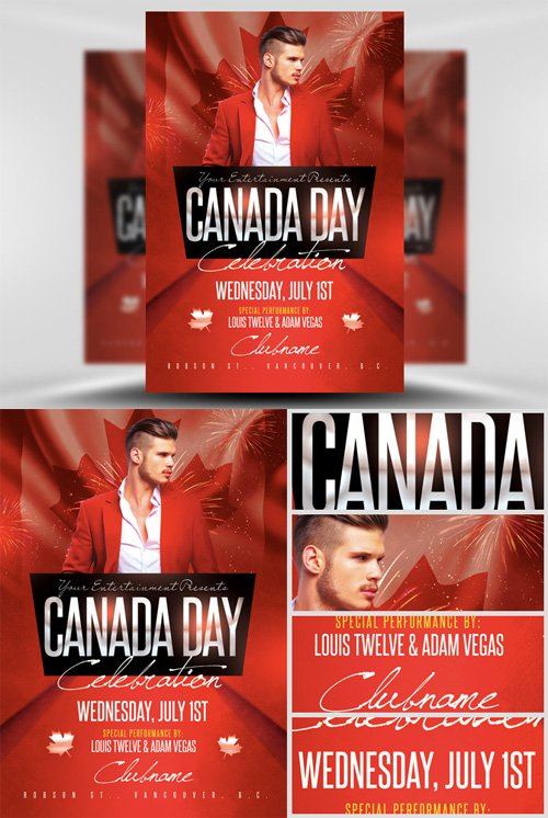 Flyer Template 2 PSD -  Canada Day