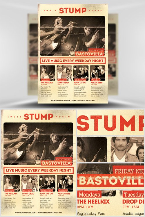Template PSD - Stump Indie Poster