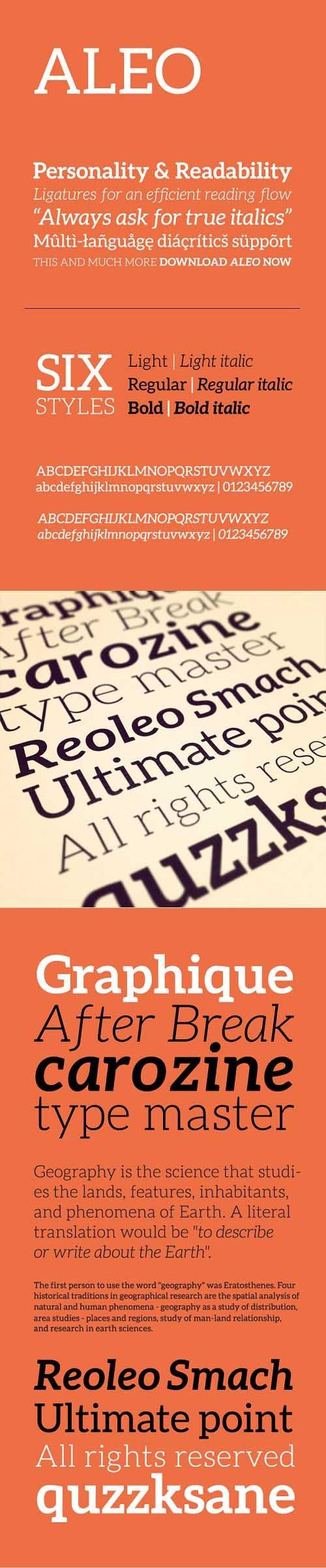 Aleo Font Style