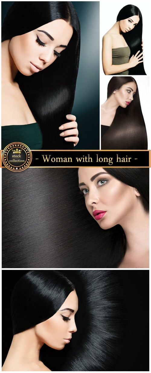 Woman with beautiful long hair - Stock Photo