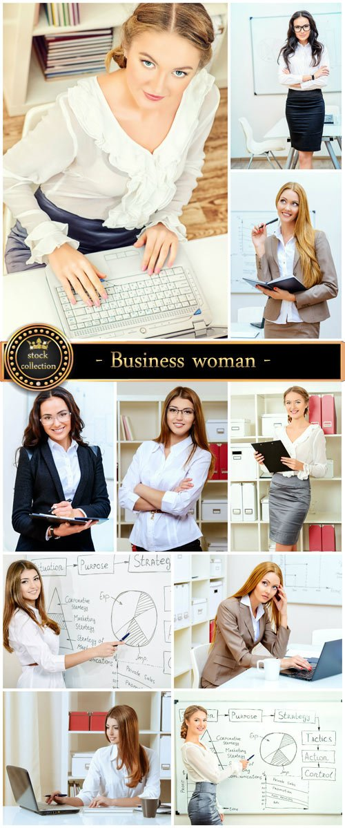 Business woman, office - stock photos