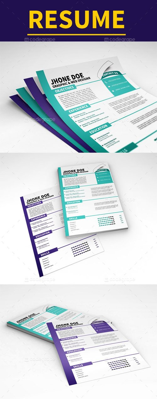 CG - Clean Resume Template 5186