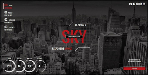 ThemeForest - Sky v1.3 - Responsive Coming Soon Page - FULL