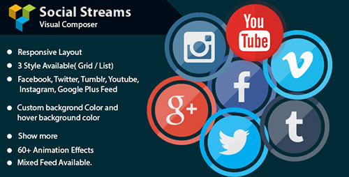 CodeCanyon - Visual Composer - Social Streams v1.1