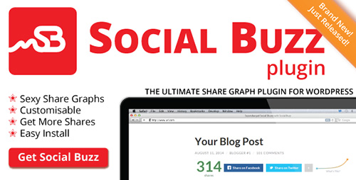 CodeCanyon - Social Buzz WordPress Plugin v1.1 - Social Share Graphs
