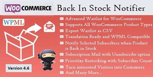 CodeCanyon - Back In Stock Notifier v6.6 - WooCommerce Waitlist Pro