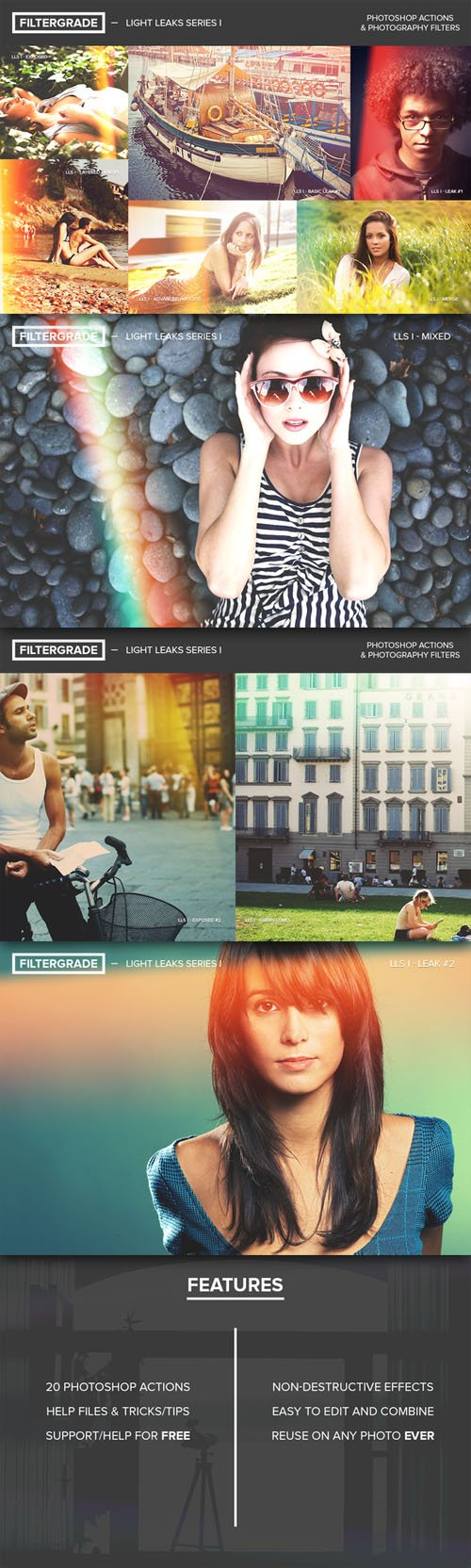 FilterGrade Light Leaks Series I - Creativemarket 19382
