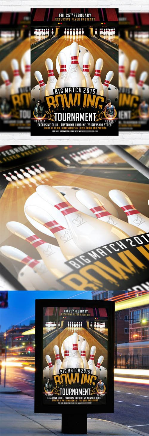 Flyer Template - Bowling Tournament