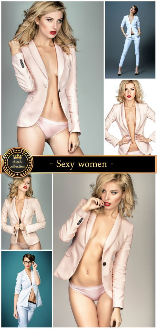 Sexy women in suits - Stock Photo