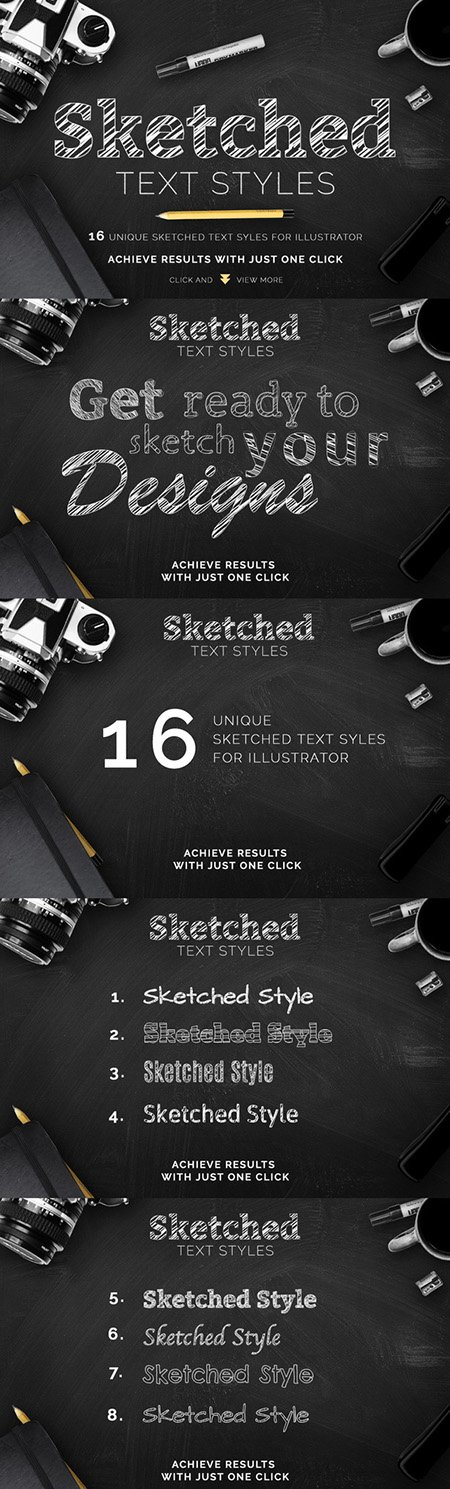 CM - Sketched Text Styles Chalkboard Efx 292443