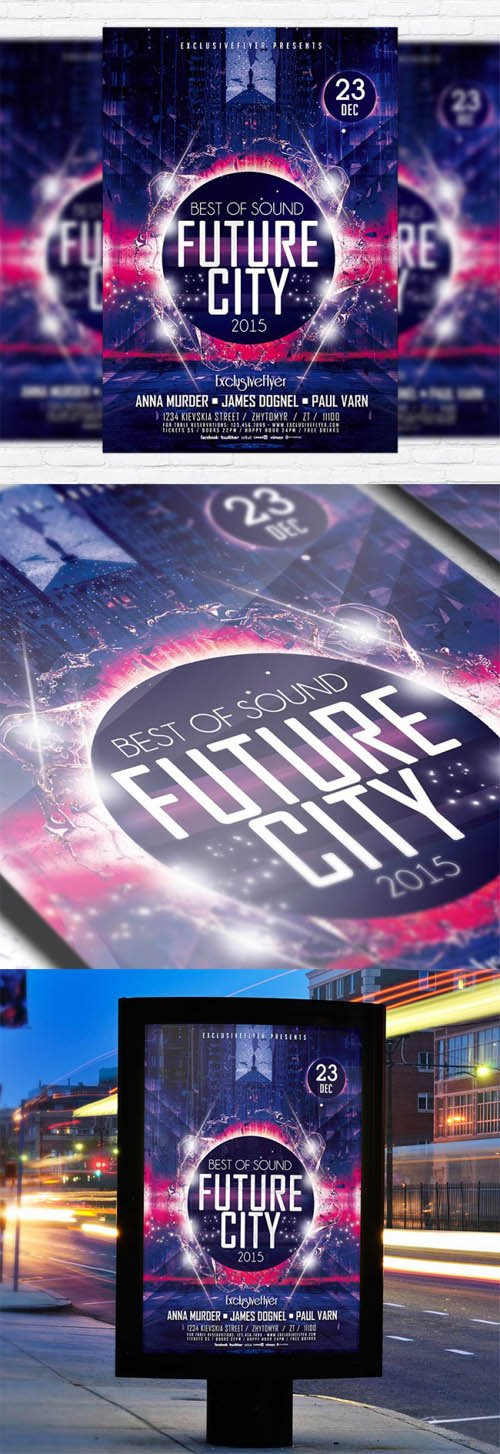 Flyer Template PSD - Future City