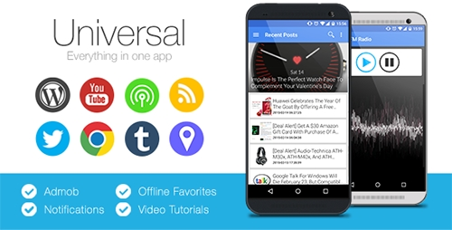 CodeCanyon - Universal v2.2.1 - Full Multi-Purpose Android App
