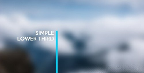 VideoHive - Simple Lower Third 11470464
