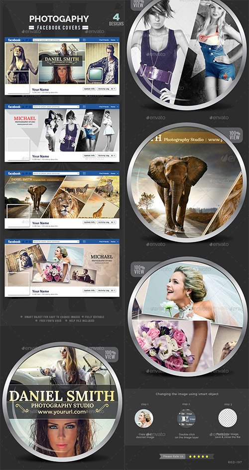 GraphicRiver - Photography Facebook Covers - 4 Designs 11455106
