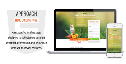 ThemeForest - Approach v1.02 - HTML Landing Page - FULL
