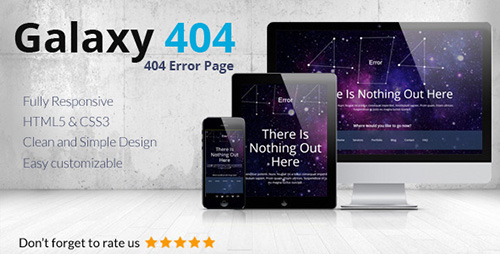 ThemeForest - Galaxy404 v1.0 - Responsive 404 Template - FULL