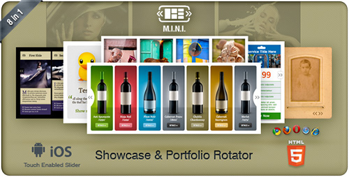 CodeCanyon - M.I.N.I v1.1 - Touchable Showcase & Portfolio Slider 8in1