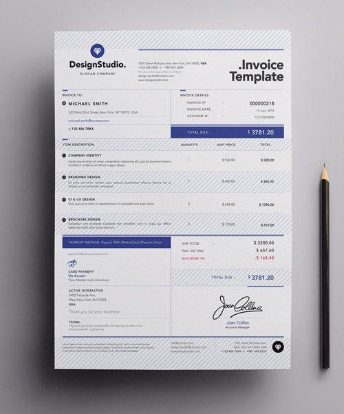 invoice template illustrator – residers, Simple invoice