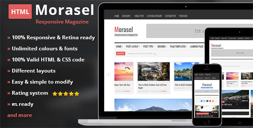 ThemeForest - Morasel - Responsive News and Magazine HTML - RIP
