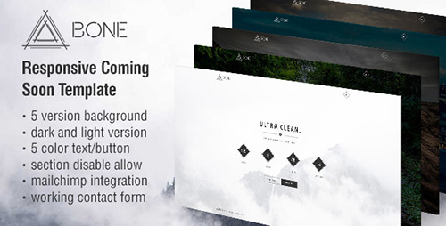ThemeForest - BONE - Responsive Coming Soon Template - RIP
