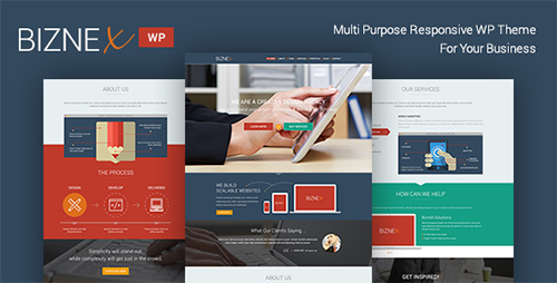 ThemeForest - BizNex v2.1 - Multi-Purpose Parallax WordPress Theme