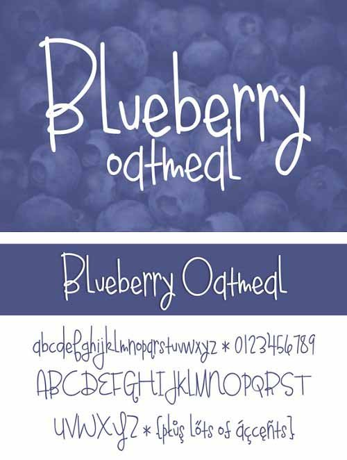 Blueberry Oatmeal Font Style