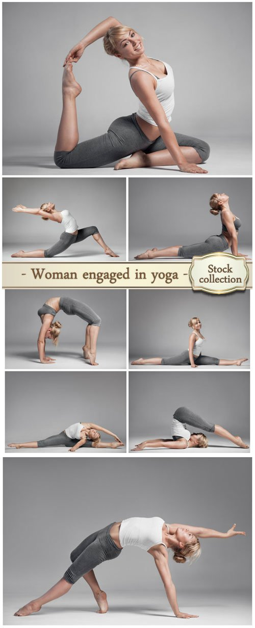 Woman engaged in yoga - stock photos � NitroGFX - Download Unique ...