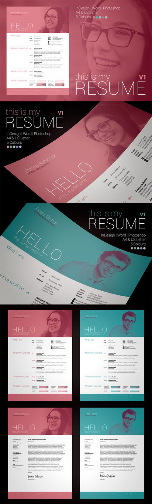My Resume V1 - Creativemarket 28972