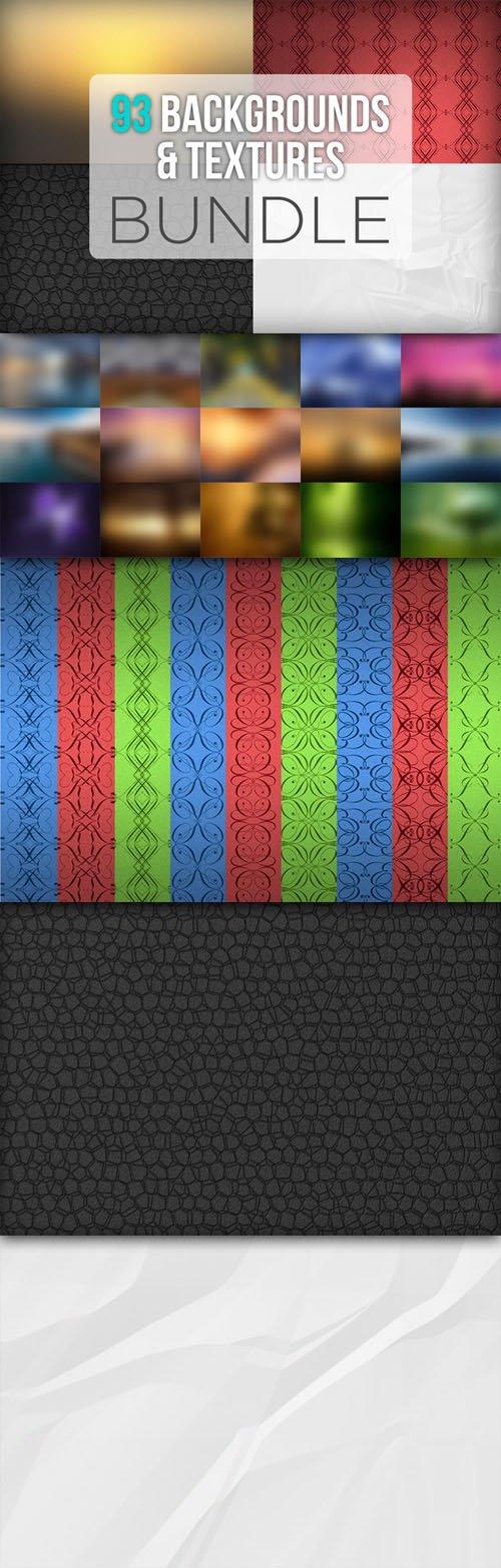 93 Backgrounds & Textures Bundle - Creativemarket 5958