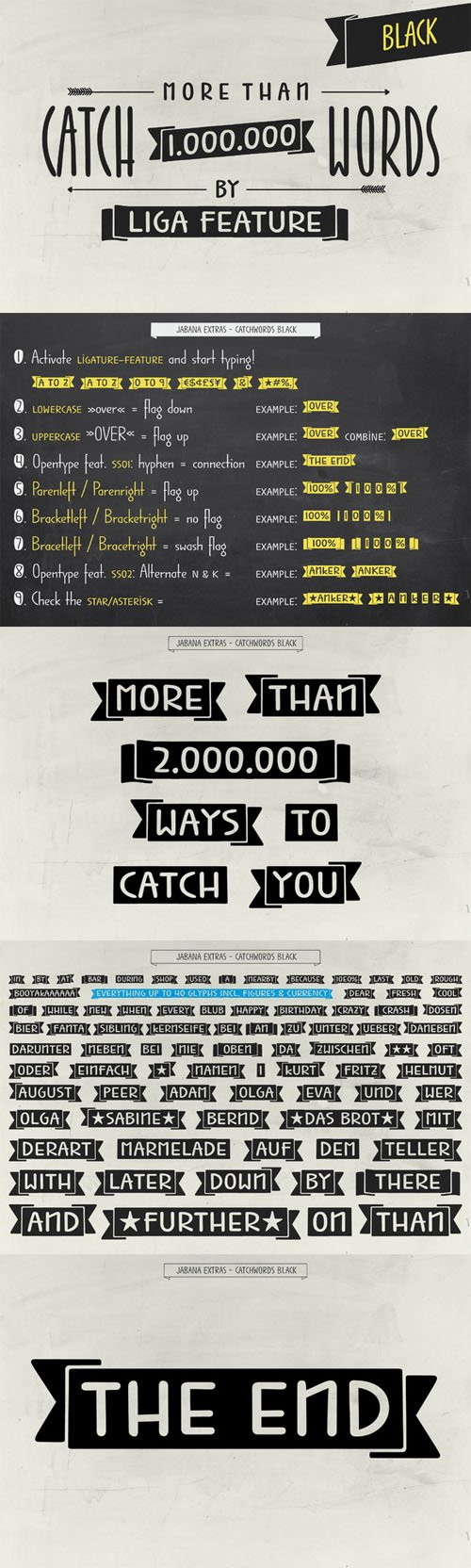 1.000.000 Catchwords Black - Jabana - Creativemarket 234432