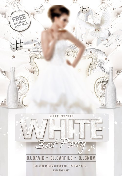 Flyer Template Psd White Best Party Facebook Cover