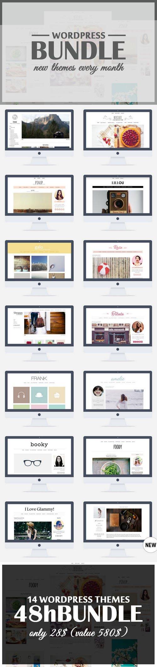 Wordpress Theme Bundle - All Shop - Creativemarket 244843