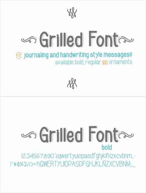 Grilled Bold Font Style
