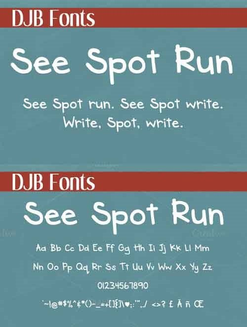 See Spot Run Font Style
