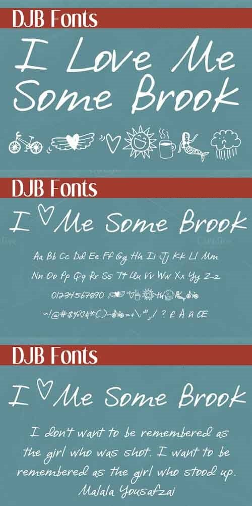 I Love Me Some Brook Font Style
