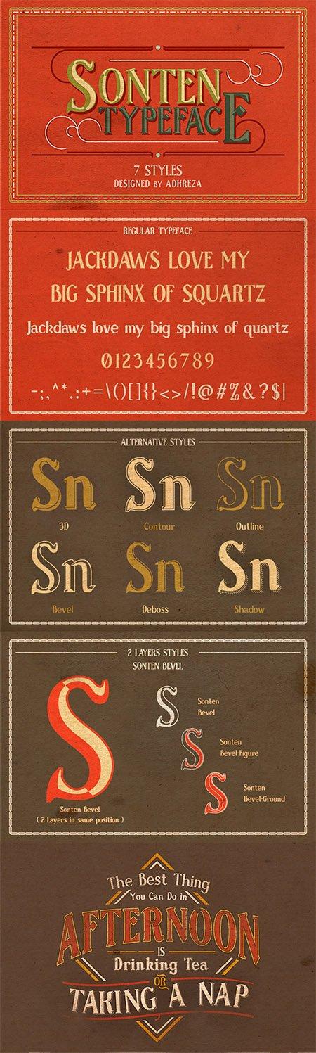 Sonten Typeface
